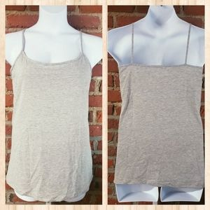 FINAL PRICE PLUS Basic Editions Heather Grey Cami